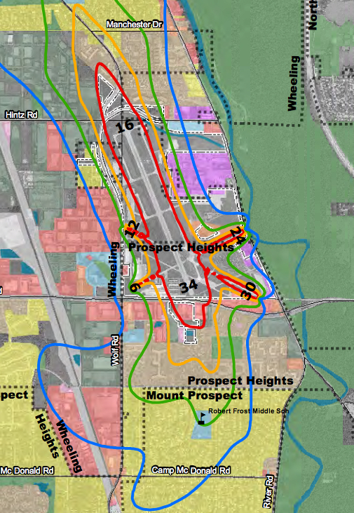 Hoyer Minnesota Map.Noise Exposure Map Update Open House Chicago Executive Airport